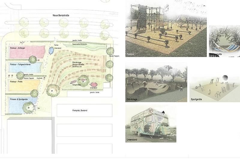 Landschaftsarchitektur Kunder 3 - Neckarpark - Spielplatz