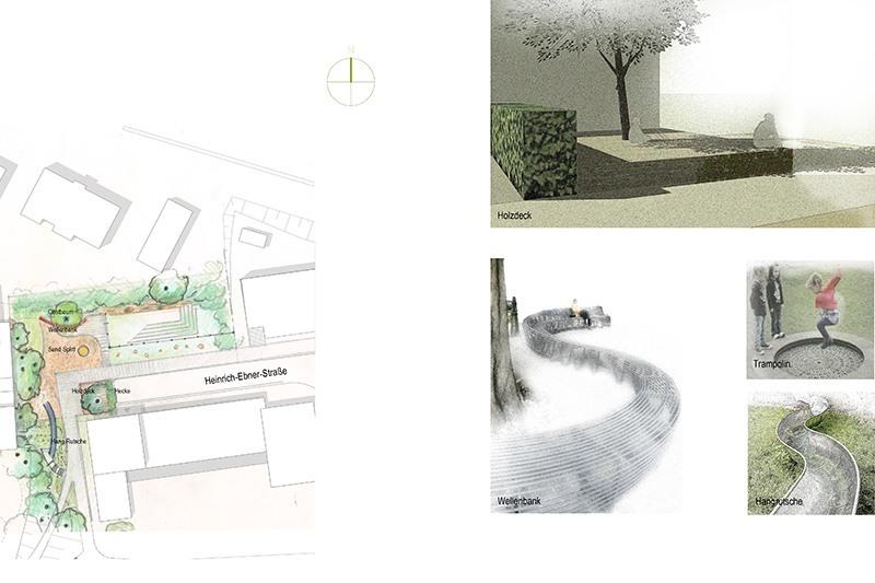 Landschaftsarchitektur Kunder 3 - Skizzen - Spielplatz Neckarpark Stuttgart
