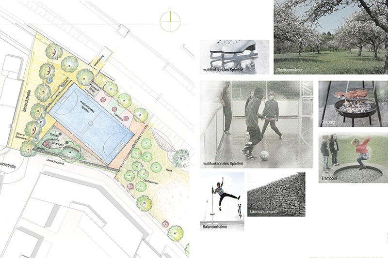 Landschaftsarchitektur Kunder 3 - Skizze Spielplatz