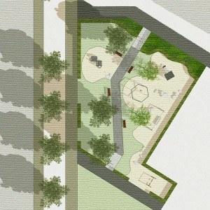 Kunder3 Landschaftsarchitektur Stuttgart - Lauter Park - erste Skizze