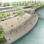 3D - Skizze für die Entwicklung des Seeufers in Sondern